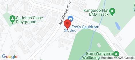 Location map for 2/243 Mackenzie Street West Kangaroo Flat