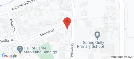 Location map for 1 Moyna Drive Spring Gully