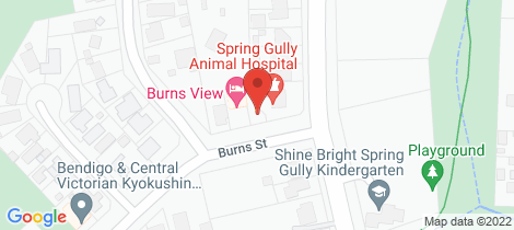 Location map for 2a Burns Street Spring Gully