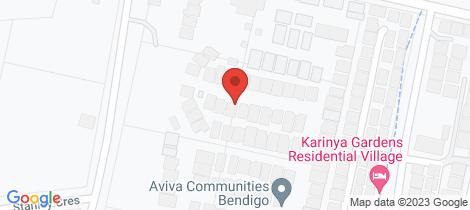 Location map for 115/31 Furness Street Kangaroo Flat