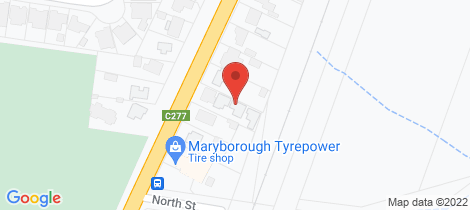 Location map for 3/176 Park Road Maryborough
