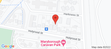 Location map for 12 Holyrood Street Maryborough