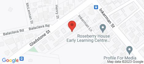 Location map for 2/194 Gladstone Street Maryborough