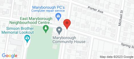 Location map for 34 Spring Street Maryborough