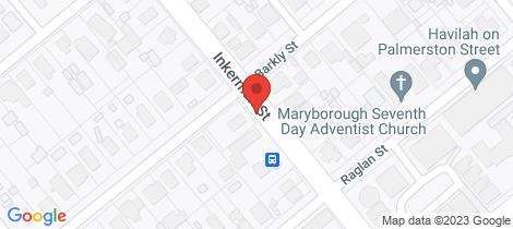 Location map for Lot 1 Inkerman Street Cnr. Albert St Maryborough