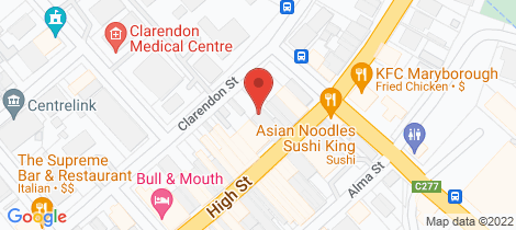 Location map for 155 High Street Maryborough