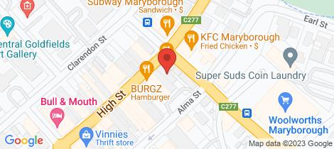 Location map for 196 - 198 High Street Maryborough