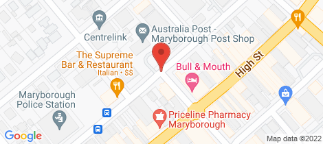 Location map for 131 George Street BET BET Maryborough