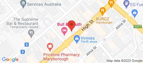 Location map for 125 High Street Maryborough