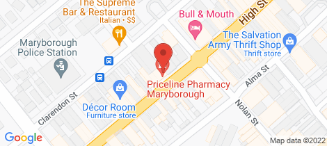 Location map for 105 High Street Maryborough