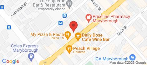 Location map for 83 High Street Maryborough
