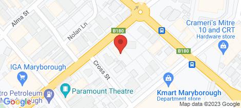 Location map for 92 Napier Street Maryborough