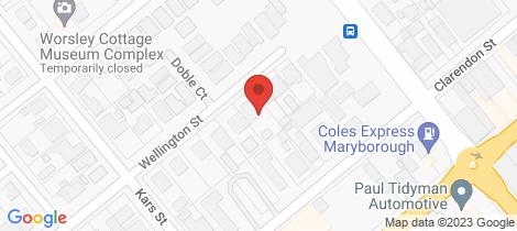 Location map for 38 Wellington Street Maryborough