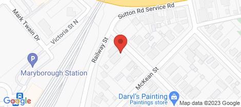 Location map for 6 Argyle Road Maryborough