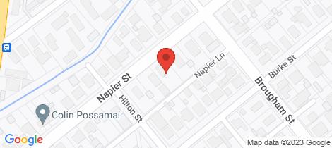Location map for 22 Napier Street Maryborough