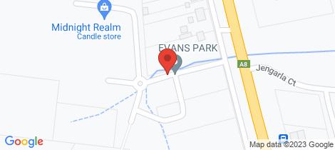Location map for Lot 3a Evans Park Ararat
