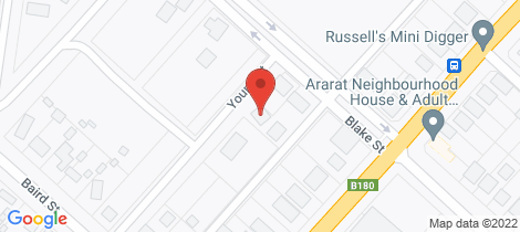 Location map for Lot 1 Young Street Ararat