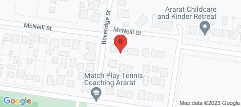 Location map for 3/2 Beveridge Street Ararat