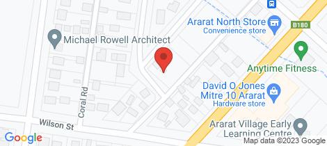 Location map for 2 Dean Street Ararat