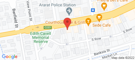 Location map for 62 Barkly Street Ararat