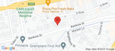 Location map for 11 Banksia Street Ararat