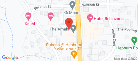 Location map for 78 Main Road Hepburn Springs