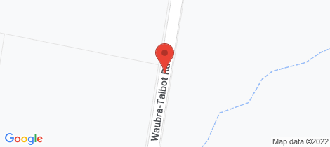 Location map for CA 2-6 Waubra-Talbot Road Waubra