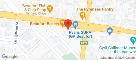Location map for 49 Neill Street Beaufort