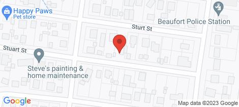Location map for 8 Stuart Street Beaufort