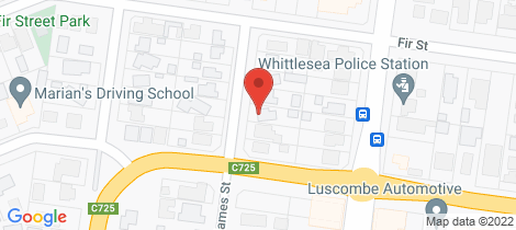 Location map for 38 James Street Whittlesea