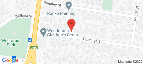 Location map for 64 Hasting Street Wendouree