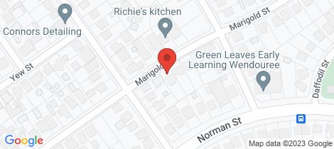 Location map for 12B Marigold Street Wendouree