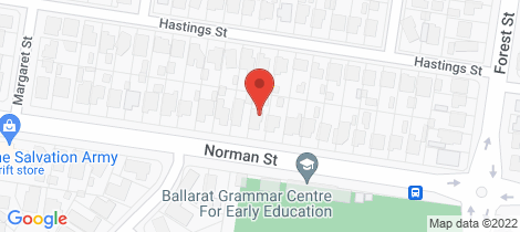 Location map for 1118 Norman Street Wendouree
