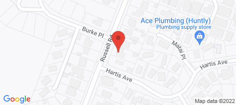 Location map for 18 Russell Road Huntly