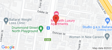 Location map for 404A Drummond Street North Ballarat Central