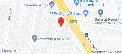 Location map for 143 Creswick Road Ballarat Central