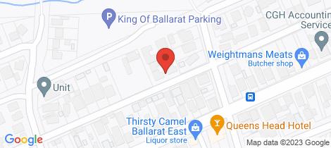 Location map for 219B Finch Street Ballarat East