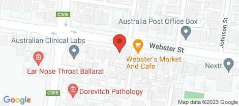 Location map for 65 Webster Street Ballarat Central
