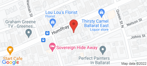 Location map for 126 Humffray Street North Ballarat East