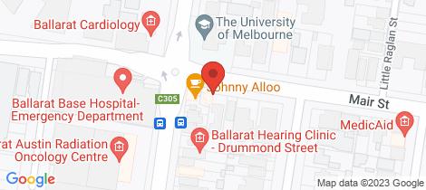 Location map for 805 Mair Street Ballarat Central