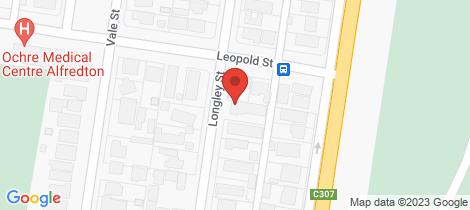Location map for 1/35 Longley Street Alfredton