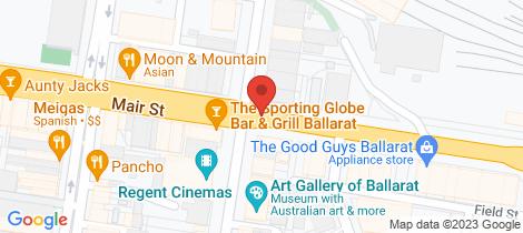 Location map for 40 Mair Street Ballarat Central