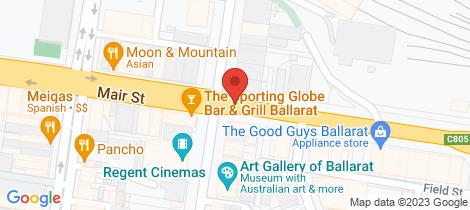 Location map for 32 Mair Street Ballarat Central