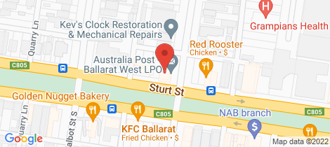 Location map for 1a Ascot Street North Ballarat Central