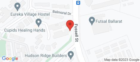 Location map for 3/5 Castle Court Ballarat East