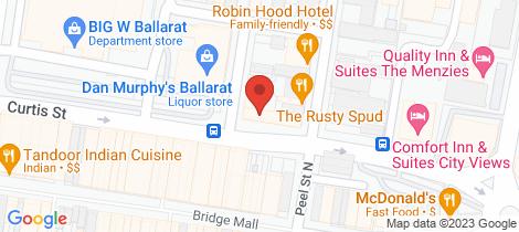 Location map for 73 Curtis Street Ballarat Central