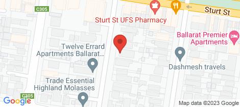 Location map for 9 Errard Street South Ballarat Central
