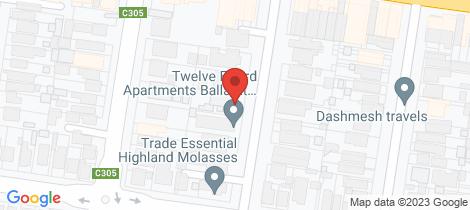 Location map for 10 Errard Street North Ballarat Central