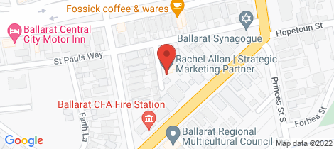 Location map for 9 Rosie Place Ballarat East