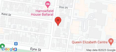 Location map for 115A Ripon Street South Ballarat Central